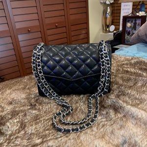 Rebecca Minkoff Black Quilted Leather Handbag